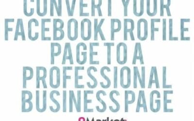 Convert a Facebook profile page to a business page