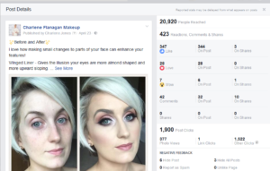 Facebook Marketing with Louise McDonnell, Charlene Flanagan Makeup